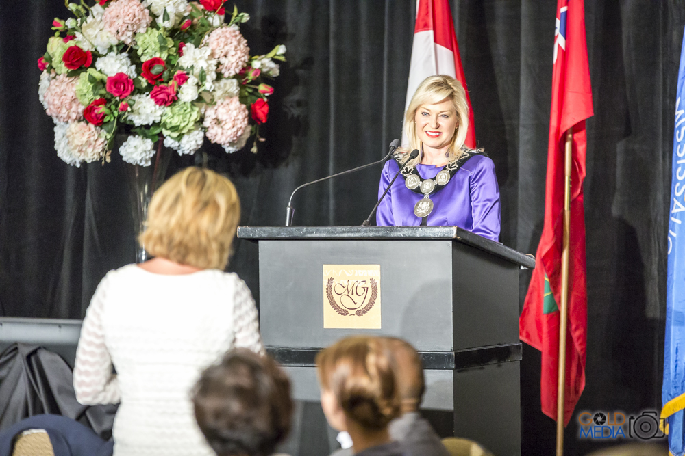 Mayor Crombie delivers her 2016 State of the City Address at a sold-out event hosted by the Mississauga Board of Trade.