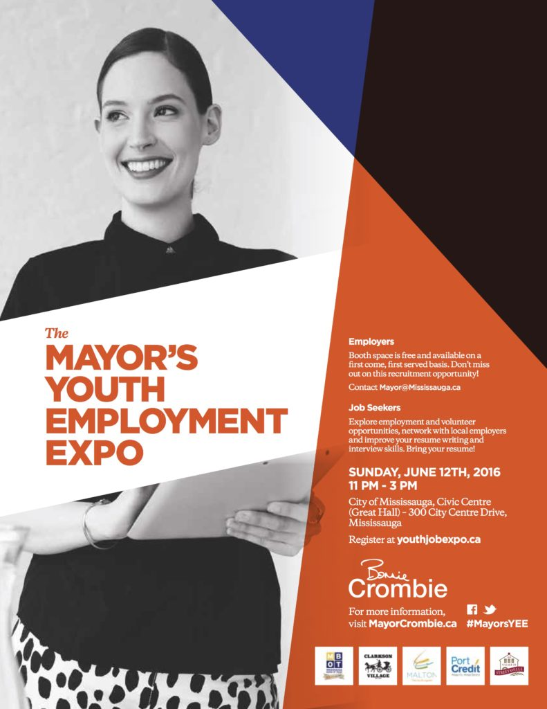 or crombie announces youth employment expo new youth myee promotional flyer