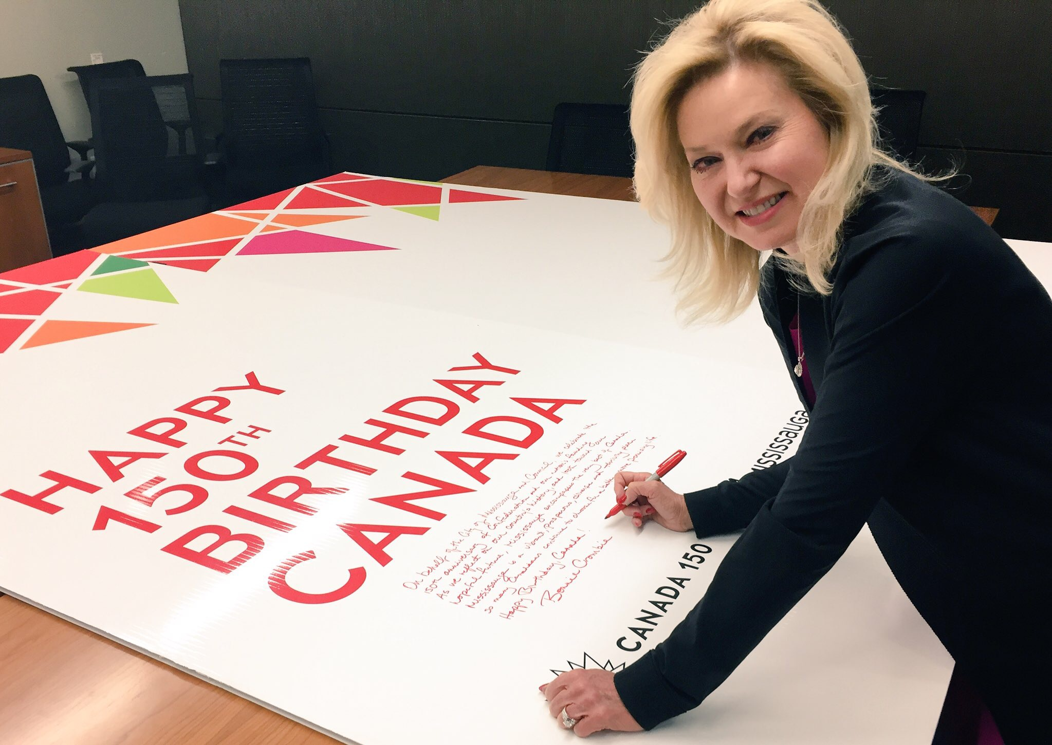 Sign Mississaugas Biggest Birthday Card Canada150 Mayor Crombie – Birthday Cards Canada