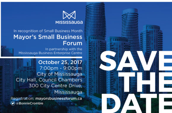 Save the Date - Mayor's Business Forum 2017